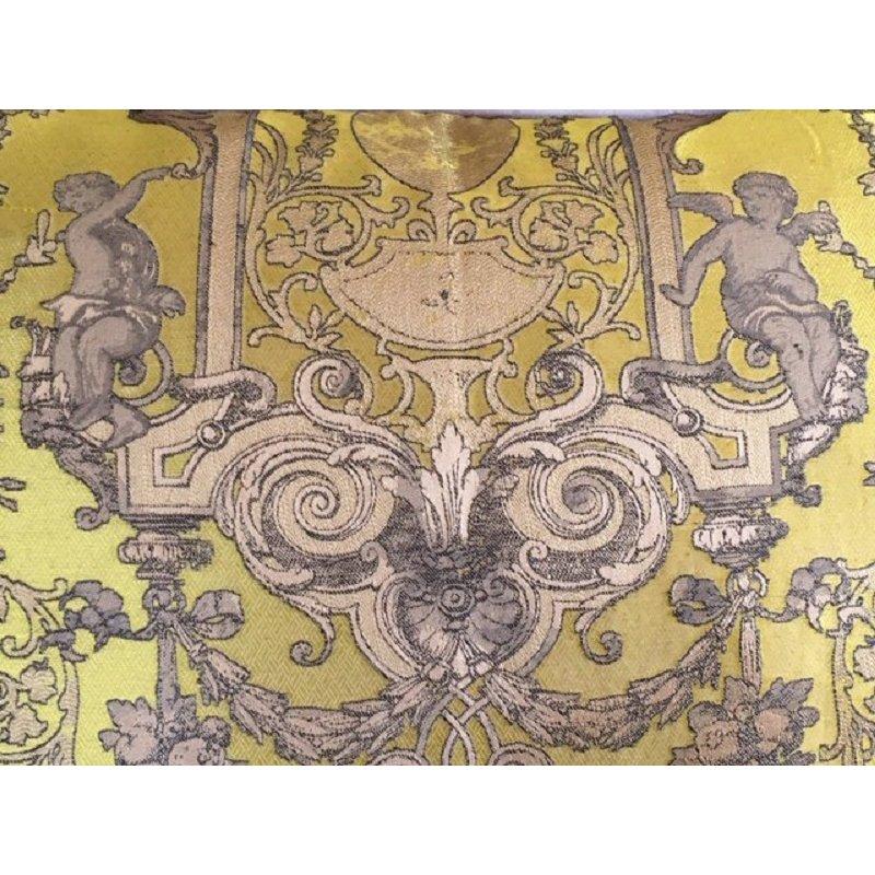 Kissen Rafael Senf Gold Mit Biese In Samt Taupe 50x70 Cm